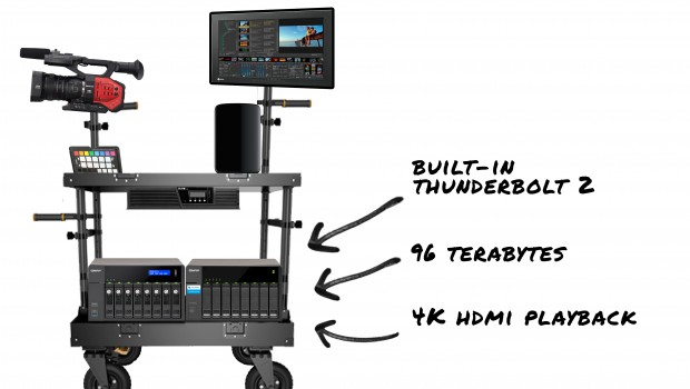 "On location Digital Imaging with QNAP Thunderbolt NAS ""RAID array"""